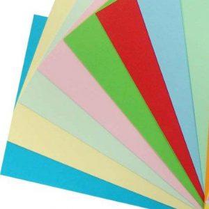 Hartie colorata in masa