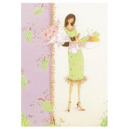 Carte poștală every day, fată cu buchet de flori